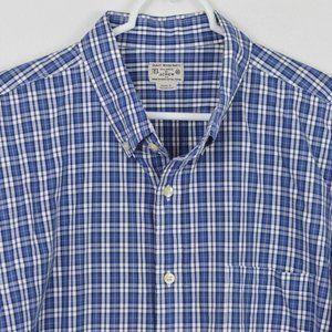 J CREW XL Plaid Cotton Long Sleeve Shirt Button
